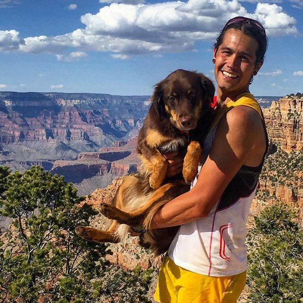 Nico Barraza at the North Rim of the Kaibab Plateau in the Grand Canyon
